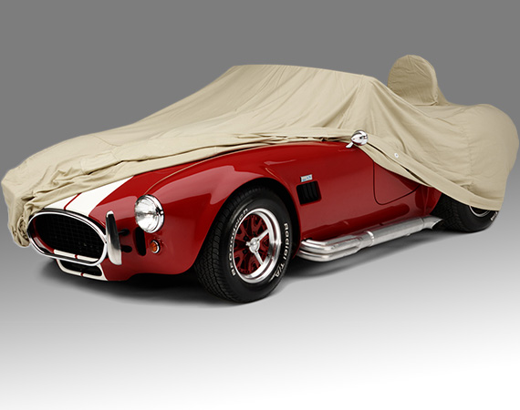 Tan Flannel Car Cover protects from dust