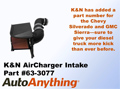 K&N 63 Series Air Intake Part #63-3077 for the 2011-2012 Chevy Silverado