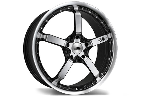 hd wheels cool down iridium black machined face lip