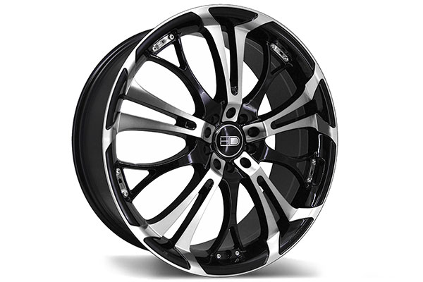 hd wheels spinout gloss black machined face  2