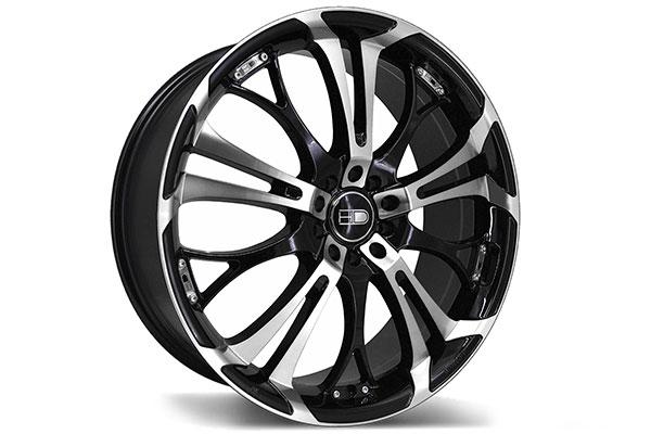 hd wheels spinout gloss black machined face  2