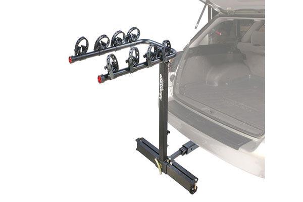 advantage sportsrack glidaway2 deluxe 4 bike rack installed