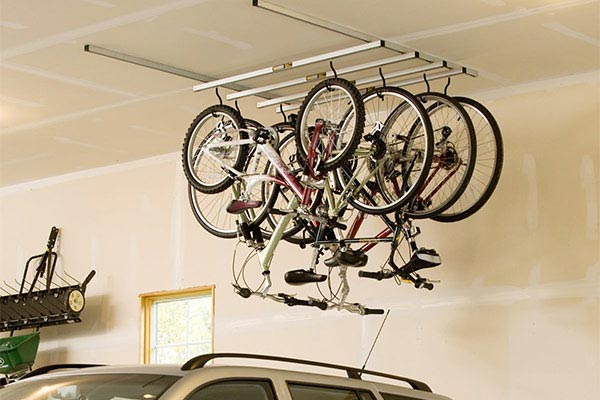 saris cycle glide ceiling mount bike storage