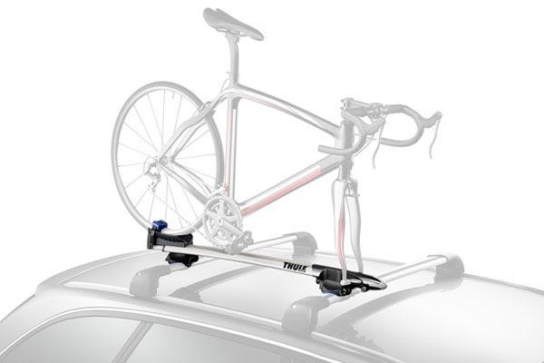 thule sprint 569 t track fork mount roof bike rack