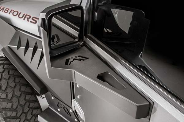 fab fours jeep mirror guard hero