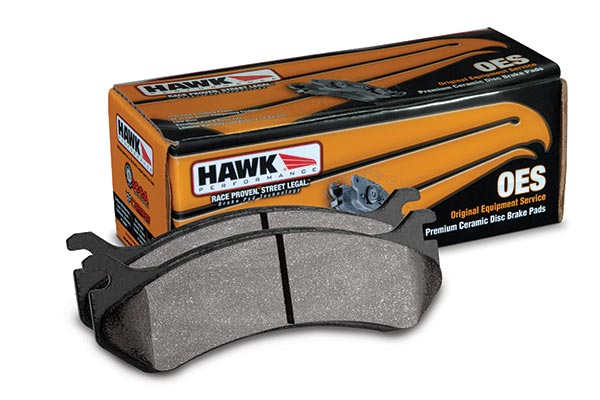 2014 Nissan Maxima Hawk OES Brake Pads 770905 Rear Pads - Full Set 7209-770905