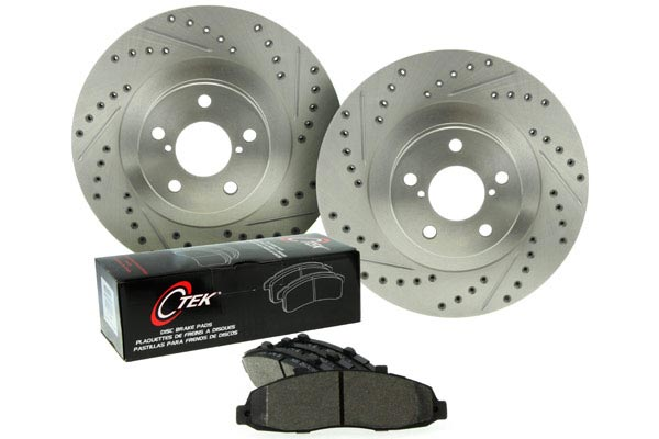 centric c tek drilled and slotted sport brake kit