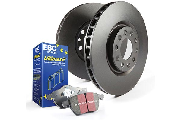 ebc brake kit shown with premium rotors and ultimate pads