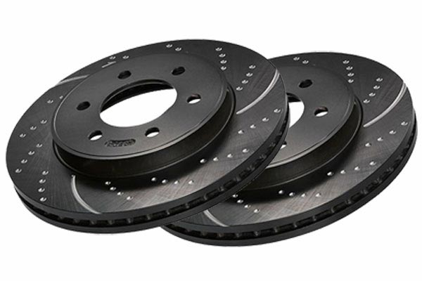 pair of stacked ebc sport rotors