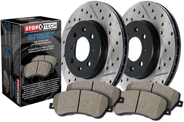 Stoptech 937.33538 Street Axle Pack Slotted Rear