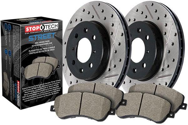 Max Brakes Front /& Rear Supreme Brake Kit Fits: 2013 13 2014 14 2015 15 2016 16 2017 17 Chevy Traverse KM069343 OE Series Rotors + Ceramic Pads
