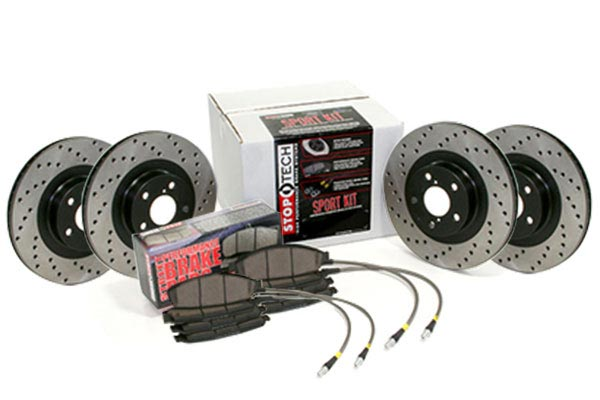 stoptech sport brake kit with drilled rotors