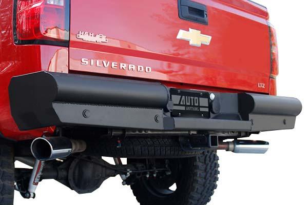 fab fours black steel elite rear bumper hero