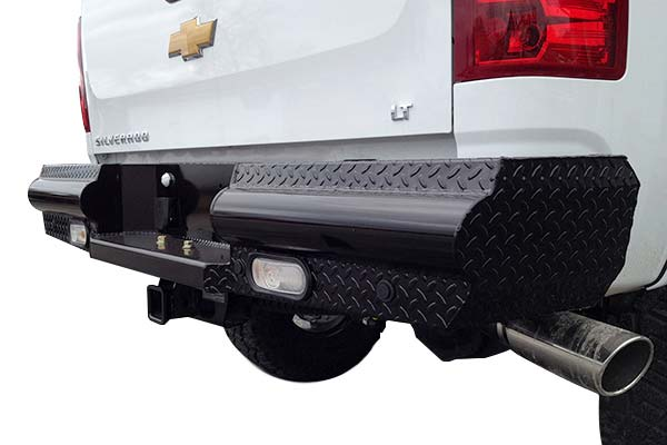 fab fours black steel rear bumper hero