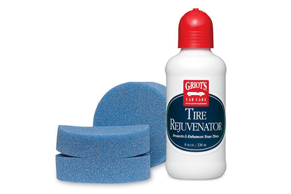 Griot's Garage Weatherproof Tire Dressing with Blue Detail Sponge - Auto Detailing Products - Wheel & Tire Cleaning Supplies