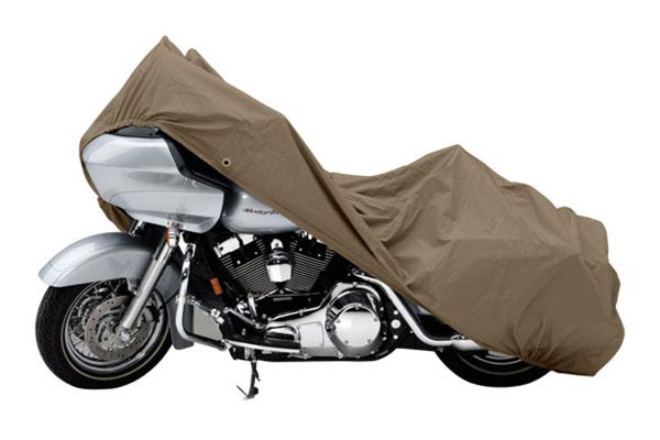 Covercraft Custom Pack Lite Harley Davidson Motorcycle Covers XN157PT Cruiser with saddle bag and windshield
