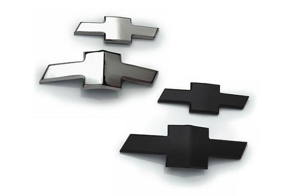 defenderworx chrome chevy grill emblems bowtie 1