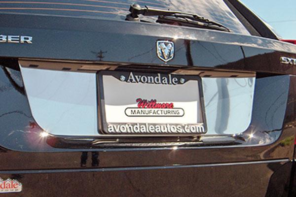 willmore license plate trim