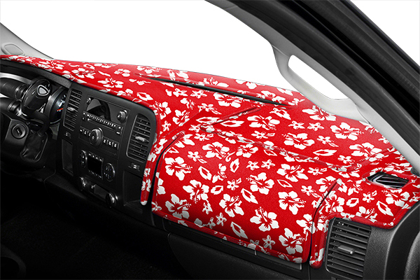 9019 coverking velour hawaiian print dash cover