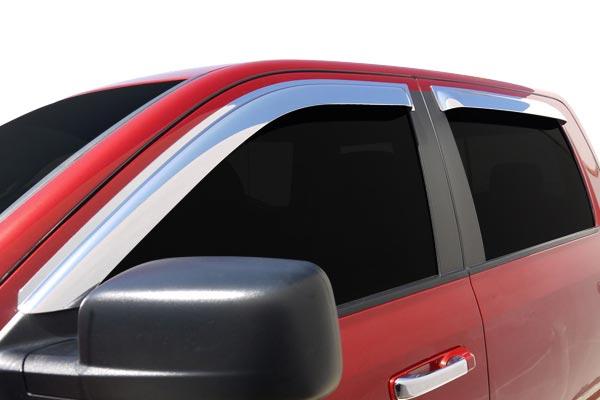 egr tape on chrome slimline window deflectors