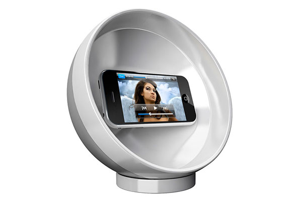 Clingo Parabolic Sound Sphere - Clingo iPhone, iPod & Cell Phone Sound Amplifier