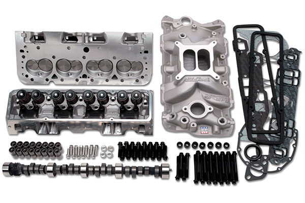 edelbrock e street power package top end kit