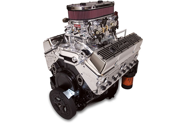 edelbrock performer dual quad 315 crate engine  2