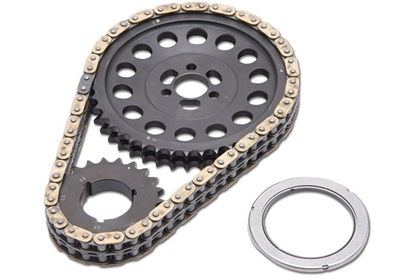 edelbrock rpm link adjustable true roller timing chain set
