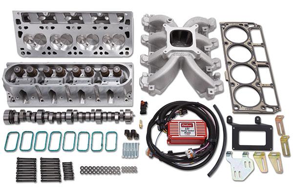edelbrock victor jr power package top end kit