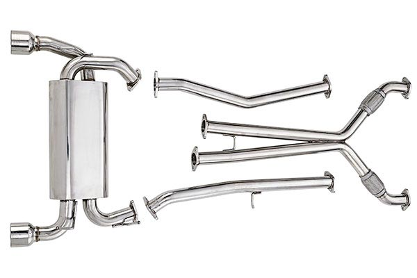 dc sports header single canister system exhaust
