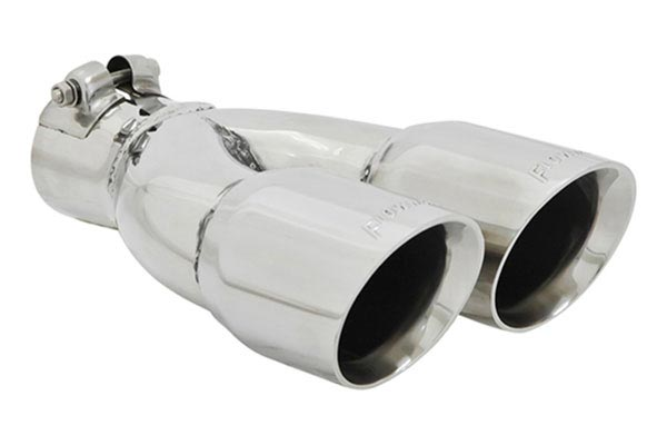 flowmaster dual round angle cut exhaust tip