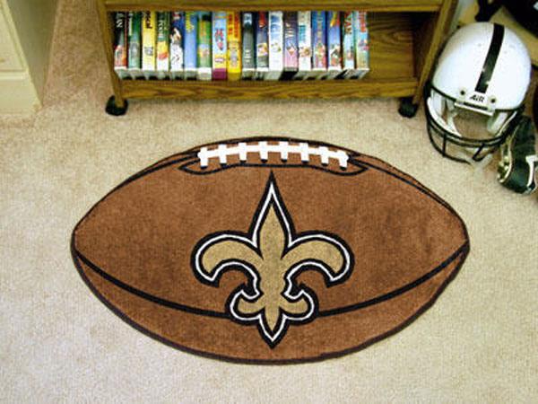 New Orleans Saints Football Rug