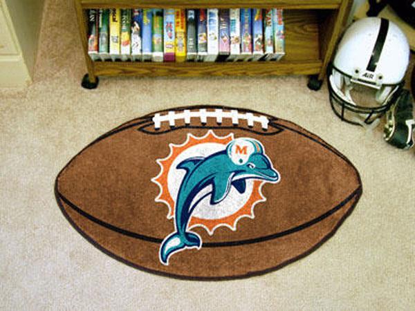 Miami Dolphins Football Rug
