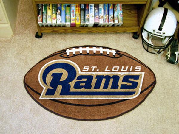 St Louis Rams Football Rug