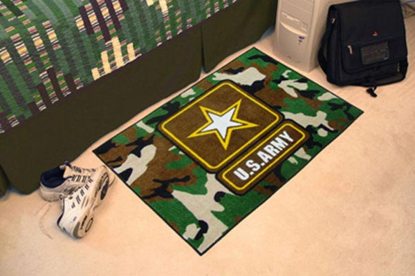 Fan Mats Military Starter Rugs - Military Rugs, Military Logo Area Rug