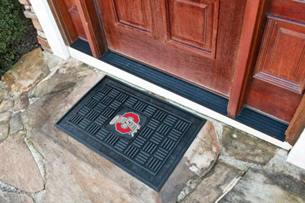 fanmats ncaa medallion mats college door mats ncaa rubber logo doormats - Rubber Door Mat