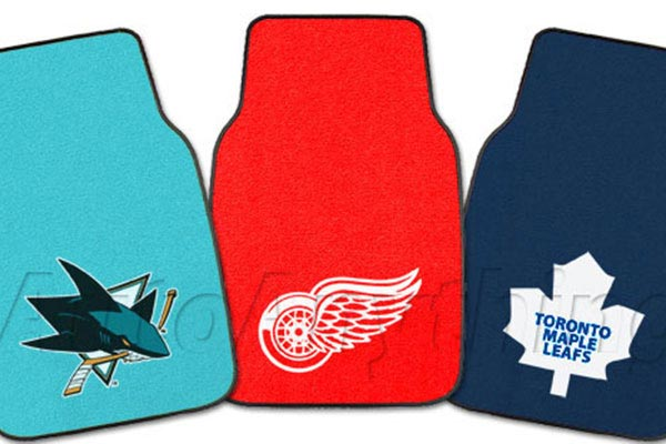 fanmats nhl logo carpet floor mats 5085