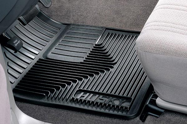 husky liners heavy duty front floor mat in black