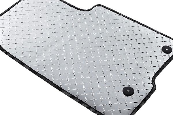 intro tech automotive diamond plate auto mat floor mats 4098
