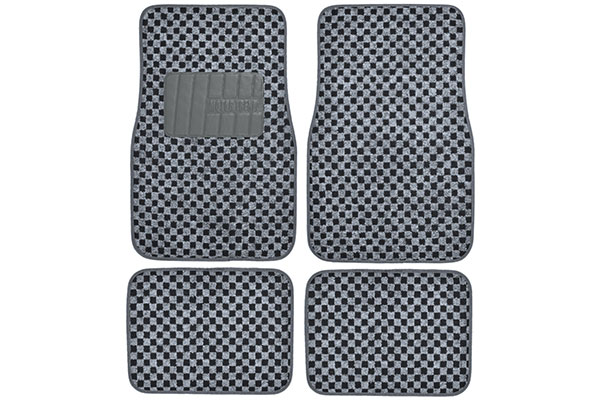 motor trend checkered carpet floor mats