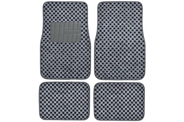 motor trend checkered carpet floor mats