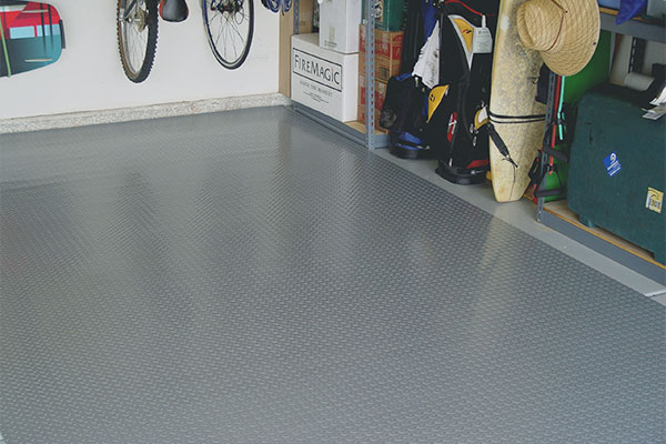 Park Smart Diamond Deck Garage Flooring Roll Out Diamond Plate Garage Floor Parking Mats By Park Smart
