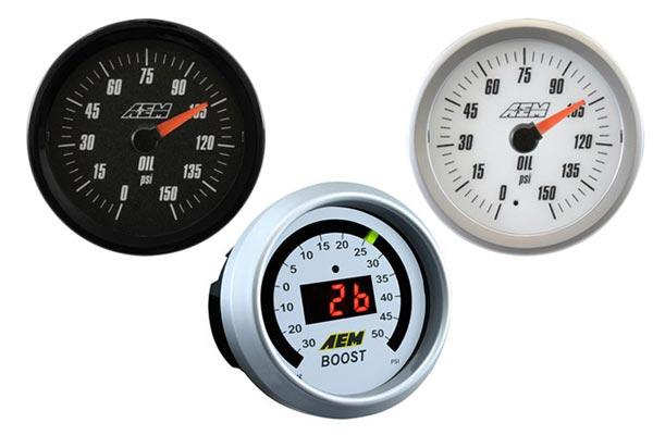 aem oil pressure gauge