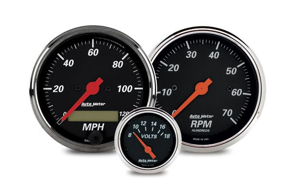 autometer street rod designer black gauges