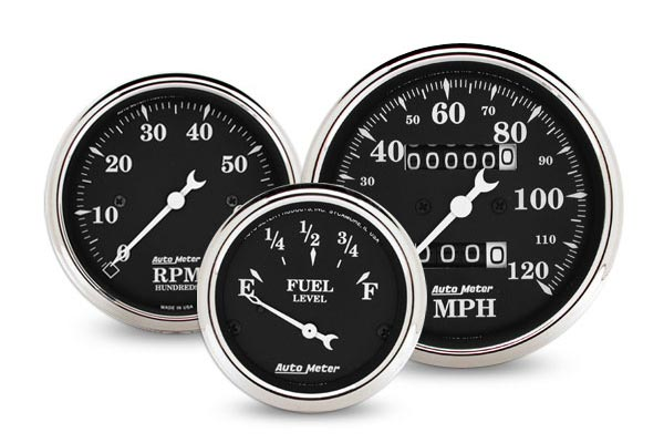 autometer street rod old tyme black gauges