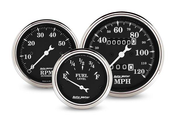 autometer street rod old tyme black gauges