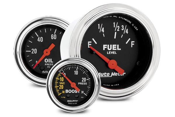 autometer traditional chrome gauges