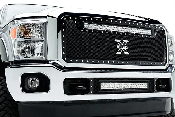 Ford F250 Grill Guard Home Custom Grilles LED Grilles T-Rex Torch Series LED Light Grille