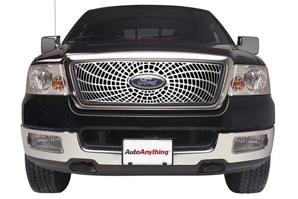 putco liquid spiderweb grille solid aluminum ford