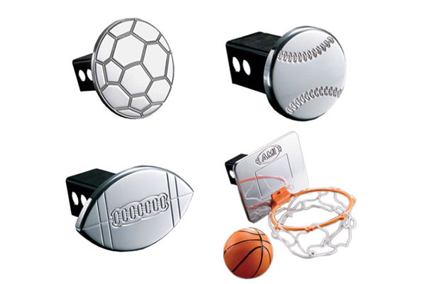 Sport Themed Hitch Covers by AMI - FREE SHIPPING